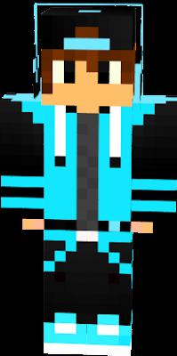 roupa azul clara e boné