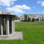 Réservoir de Charonne : vue depuis la rue Stendhal