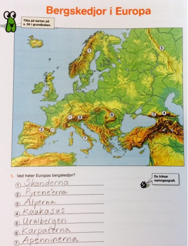 Petras Skolsida Bergskedjor I Europa Laxa Till Onsdag
