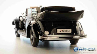 Adolf Hitler's 1999 Mercedes-Benz 770K Grosser Open Tourer parade car goes for auction