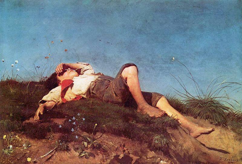Franz von Lenbach - Young shepherd