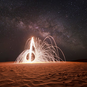 Steel Wool project with the stars and milky way by Vic Pacursa - Abstract Light Painting ( milkyway, light painting, steel wool, stars, nikkor, nikon, universe, nightscape )