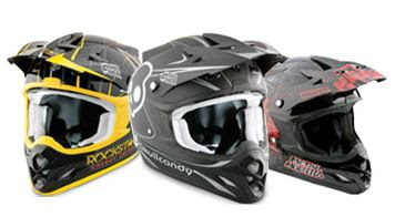 Answer 2013 Motocross Helmets Skull Candy, Metal Mulisha Rockstar Racing