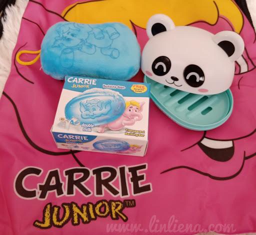 Carrie Junior Bubbly Bar-Membersih Sambil Melembabkan Kulit Secara Semulajadi
