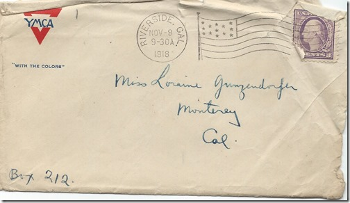 Nov 8 1918 Envelope Front