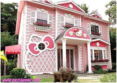 gambar rumah hello kitty