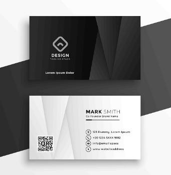 Membuat Kartu Nama Hitam Elegan   Templates Design Gratis