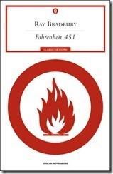 Fahrenheit 451 - copertina - libro - Ray Bradbury