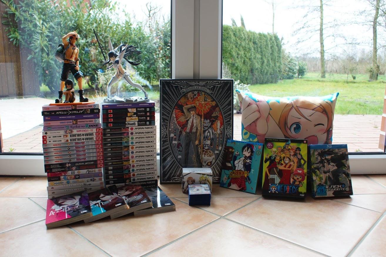 Einkaufsrückblick März Anime Manga Figure Loot Death Note One Piece Nisekoi Weiß Schwarz Black Rock Shooter Oreimo