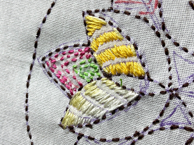 Kantha Embroidery detail