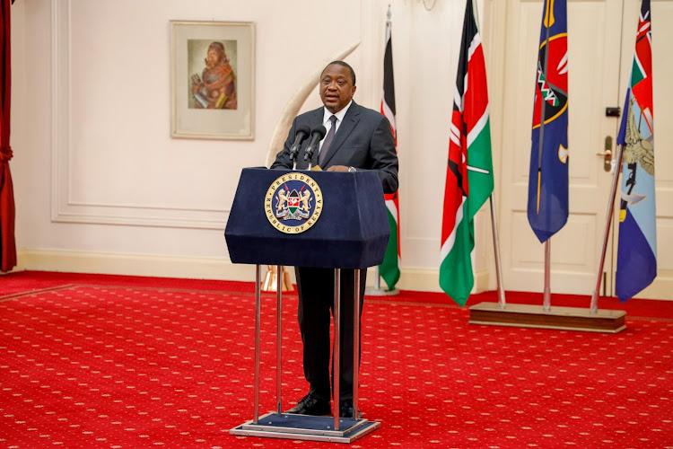 President Uhuru Kenyatta during the release of the 2019 Census results on Monday, November 4, 2019.