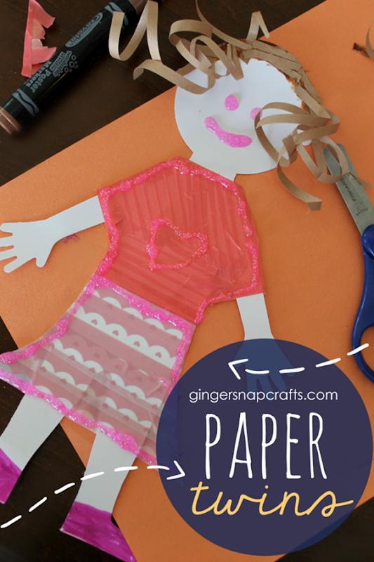 Paper Twins from GingerSnapCrafts.com #papercrafts #kidscraft