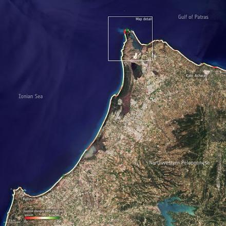 Αυξομείωση των ελληνικών ακτών αποκαλύπτουν οι δορυφορικές εικόνες του Ευρωπαϊκού Οργανισμού Διαστήματος