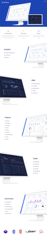 Metrica - Responsive Admin Multi Dashboard Template - 1