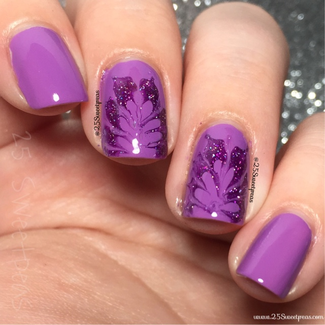 Purple Drag Nail Art 25 Sweetpeas