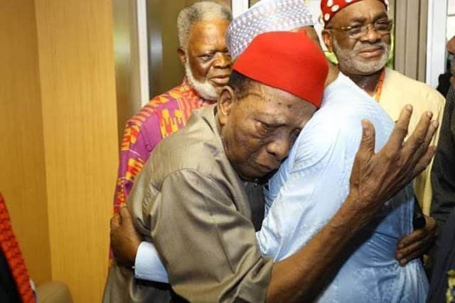 Prof Ben Nwabueze have declared that His last wish before Joining His Ancestors is for the Entire Ndi Igbo in every part of Nigeria to vote Atiku and PDP in 2019 Presidential election . it was an Electrifying and emotional moment