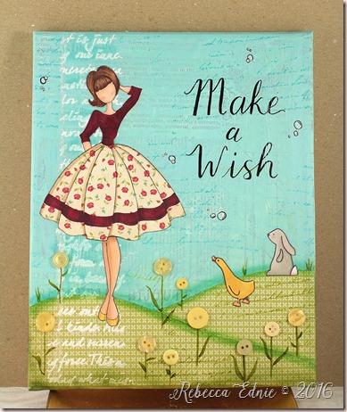 make a wish canvas
