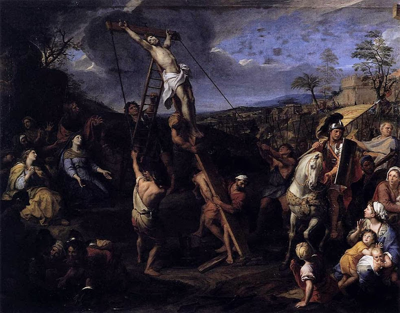 Charles Le Brun - The Raising of the Cross