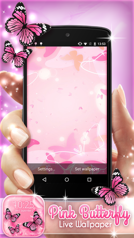 Pink Butterfly Live Wallpaper - Android Apps on Google Play