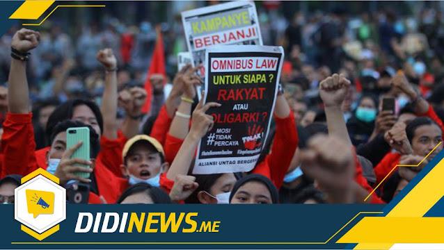 Mahasiswa & Buruh ke Panggung Lagi Protes Anti Omnibus Law Hari Ini