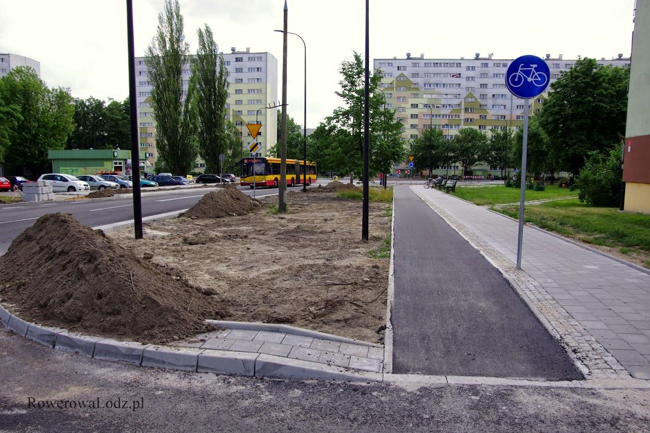 Ulica Rydzowa - jednokierunkowa droga dla rowerów.