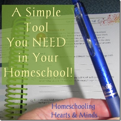 Frixion Pens a tool you need in your homeschool! Video demonstration.