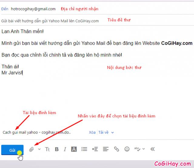 cách soạn và gửi email yahoo
