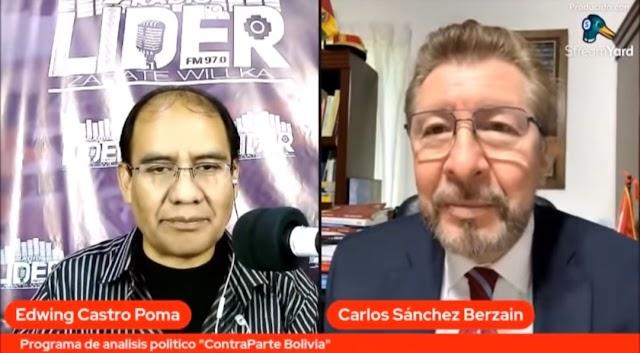 BERZAIN: Bolivia bajo castrochavismo es dictadura y narcoestado