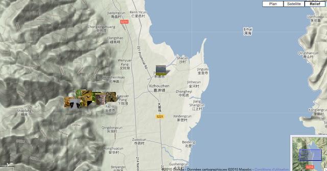 Localisation des photos autour de Xizhou (au Nord de Dali)