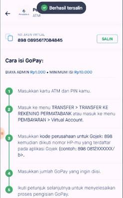 Nomor akun virtual gopay