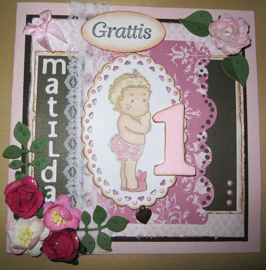 födelsedagskort 1 år Åsalills pyssel: Födelsedagskort födelsedagskort 1 år