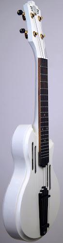 white bmm art deco ukulele