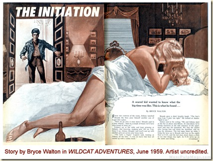 WILDCAT ADVENTURES, June 1959. Bryce Walton story WM2