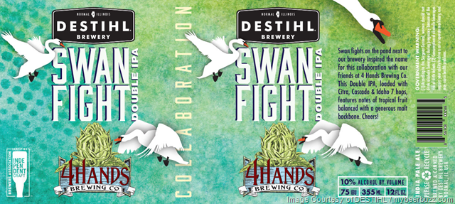 DESTIHL Deadhead Series Touch Of Haze & 4 Hands Collaboration Swan Fight
