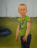 Liam 40 x 50 cm olieverf op paneel (opdracht)