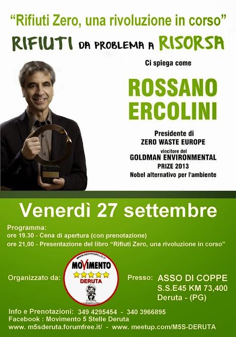 Serata Evento con Rossano Ercolini - Deruta - 27 SETTEMBRE 2013