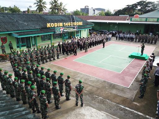 Jelang Lebaran Idhul Fitri, TNI-POLRI di Bone Gelar Apel Gabungan