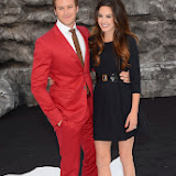 WWW.ENTSIMAGES.COM     Armie Hammer; Elizabeth Chambers   at     The Lone Ranger - UK film premiere at Odeon Leicester Square, London July 21st 2013                                                 Photo Mobis Photos/OIC 0203 174 1069