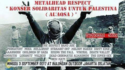Event: MetalHeads Respect'CHARITY FOR PALESTINE (AL AQSA)' Bulungan Outdoor Jakarta
