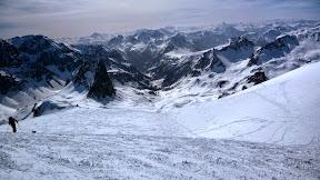 Vallée de descente, à droite le col du Vallon pour tout à l'heure!