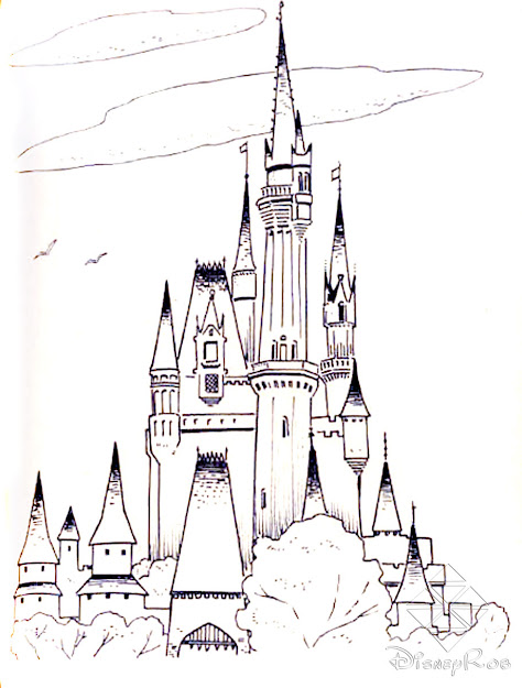 Frozen Cinderella Castle  Free Printable Castle Coloring Pages For Kids