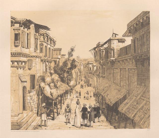 Philip Meadows Taylor's sketch of Karwan in the 1800s