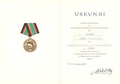 150f Medaille für treue Dienste in der Nationale Volksarmee für 10 Dienstjahre