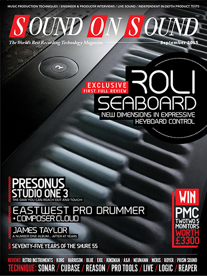 ROLI Seaboard GRAND lands Sound On Sound magazine front cover   From
