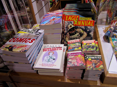 Comics for sale at the British Library's bookshop