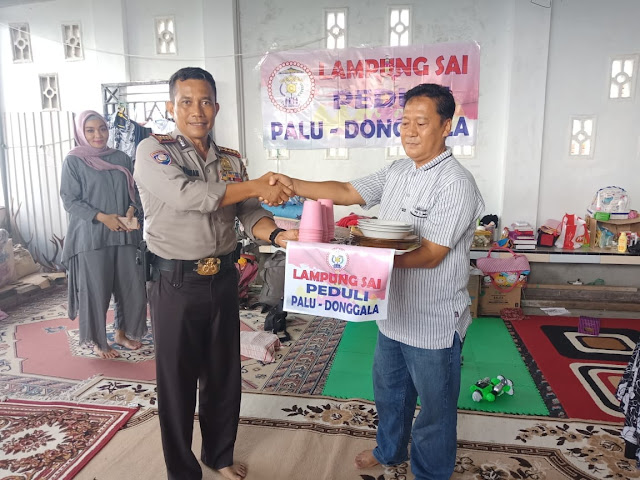 DPP LAMPUNGSAI PEDULI SALURKAN BANTUAN KE PALU, DONGGALA