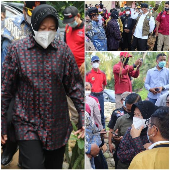 Kunjungi Lokasi Bencana Padang Pariaman, Mentri Risma Janjikan Anak Korban Longsor Bekerja di Kemensos