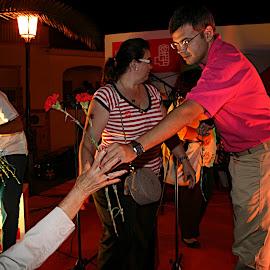 Mitin del PSOE en Puebla de la Calzada