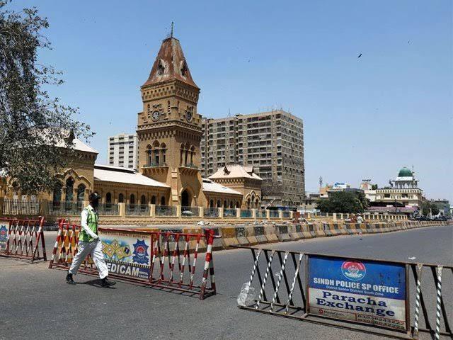 کراچی شہر میں کل سے مکمل لاک ڈاؤن کا اعلان