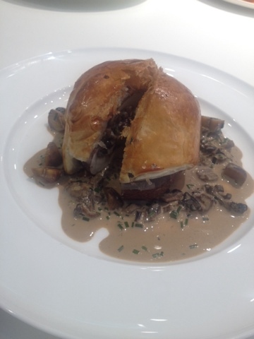 Chef Alex Mackay makes mushroom wellington at the Good Housekeeping Institute Stuffed mushroom amongst chestnut in addition to lentils recipe
